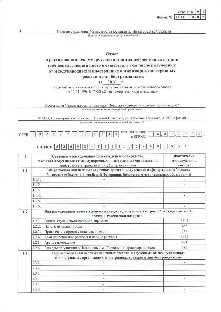 минюст автономная некоммерческая организация отчетность